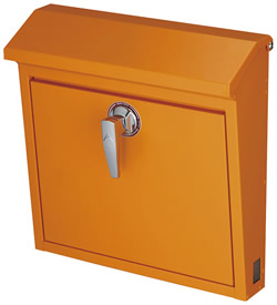 美濃クラフト ポスト POMO(本体) 前入れ前取り出し 本体色:ゴールドオレンジ 上下開閉式 【送料無料】