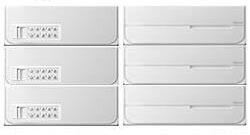 【3戸用】【本体樹脂製】ナスタ 大型郵便対応集合郵便受箱(ヨコ型) 前入後出 D-ALL 可変プッシュボタン錠 ホワイト KS-MB6302PY-3PK-W