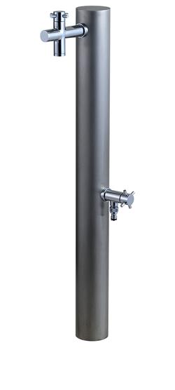 宝泉製作所 立水栓 2口水栓柱 ウォーターポスト ヘアライン仕上げ 325H