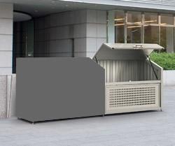 ゴミステーション 大型ゴミ箱 【連棟ユニットの為単体でのご使用不可】シコク ゴミストッカー PS型連棟ユニット GPS-1612-09SC ※受注生産 [自治会/町内会/大容量/ゴミ箱]