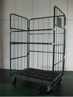 株ダイカ 輸送機器 床板プラスチック製カゴ車(500kgタイプ) W1000×D600×H1700mm ELS-P9