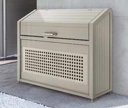 四国化成 ゴミステーション 大型ゴミ箱 シコク ゴミストッカー PS型スリムタイプ基本セット GPS-1214-07SC [自治会/町内会/設置/屋外/カラス/対策/猫/大容量/ごみ/ゴミ箱]