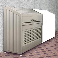 ゴミステーション 大型ゴミ箱 【連棟ユニットの為単体でのご使用不可】シコク ゴミストッカー PS型スリムタイプ連棟ユニット LGPS-1214-06SC [自治会/町内会/大容量/ゴミ箱]