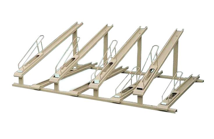 KYテクノロジー 自転車スイングラック KCEB型 上段下段 台車式 収納台数6台セット KCEB型 KCEB-306