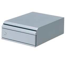 株ぶんぶく 機密書類回収ボックス 卓上タイプ シルバーメタリック KIM-S-5