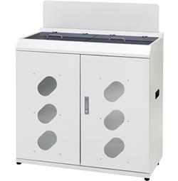 株ぶんぶく 資源回収ボックス 幅900mm型 ネオホワイト 牛乳パック用 OSE-75A