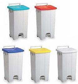 テラモト ゴミステーション 大型ゴミ箱 回収・運搬用カート ボックスカート(カラー) 90 ※受注生産品
