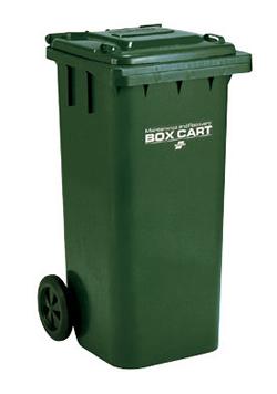 テラモト ゴミステーション 大型ゴミ箱 回収・運搬用カート ボックスカート 120 ※受注生産品