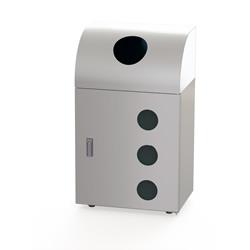 株ぶんぶく リサイクルトラッシュ 確認窓付タイプ OSE-Z-36 ステンレスヘアライン仕上