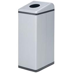 株ぶんぶく 分別ゴミ箱 リサイクルトラッシュ Bライン ビン・カン用 シルバーメタリック(塗装)OSL-33