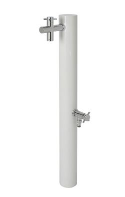 宝泉製作所 水栓柱 ウォーターポスト ホワイト 2口 325W