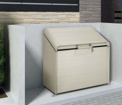 四国化成 ゴミステーション 大型ゴミ箱 シコク ゴミストッカー AP4型 (上開き) 425リットル(ステンカラー) GSAP4-0912SC [ゴミ収集庫/自治体/町内会/収集所/集積所/金属/大容量/ごみ]
