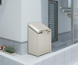ゴミステーション 大型ゴミ箱 シコク ゴミストッカー AP4型 (上開き) 200リットル(ステンカラー) GSAP4-0711SC [自治会/町内会/大容量/ゴミ箱]