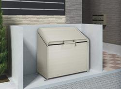 ゴミステーション 大型ゴミ箱 シコク ゴミストッカー AP4型 (上開き)575リットル(ステンカラー) GSAP4-1212SC [ゴミ収集庫/自治体/町内会/収集所/集積所/金属/大容量/ごみ]
