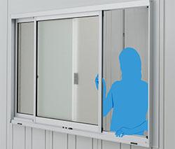 【送料要見積】イナバガレージ専用オプション ガラス窓 (壁パネル3枚分) GNR-3J  ※本体と同時購入時価格