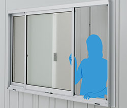 【送料要見積】イナバガレージ専用オプション ガラス窓 (壁パネル3枚分) GNR-3S  ※本体と同時購入時価格