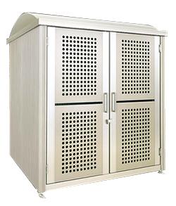ゴミステーション 大型ゴミ箱 【開き戸式・床なし】シコク ゴミストッカー PL型 基本セット GSPL-NA2025SC(積雪荷重600N/m2) ※受注生産 ※送料無料
