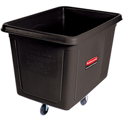 ゴミステーション 大型ゴミ箱 ラバーメイド キューブトラック 4619 ブラック色 (フタなし) ※受注生産品