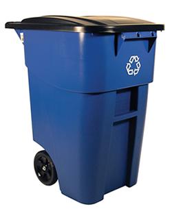 ゴミステーション 大型ゴミ箱 ラバーメイド ビッグホイールリサイクルコンテナ(フタ付き) 9W27-73