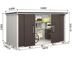 ヨドコウ ヨド物置 エルモ LMD-3618一般地型 標準高タイプ [収納庫/収納/屋外収納庫/屋外/倉庫/激安/安い/価格/小屋/ガーデニング/庭/よど/よど物置/ものおき/物置き]
