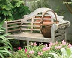 【エリア限定送料無料】ジャービス ミニ貴族ベンチ 36321 チーク 無塗装 ガーデン用