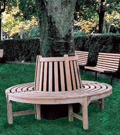 【エリア限定送料無料】ジャービス ラウンドベンチ 36707 チーク 無塗装 ガーデン用