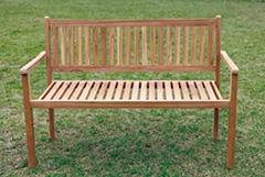 【エリア限定送料無料】ジャービス シンプルスタッキングベンチ 36713 重置可能 チーク 無塗装 ガーデン用