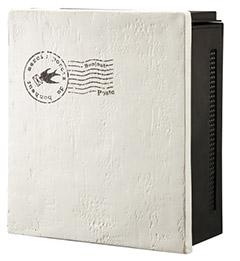 【送料無料】オンリーワン 郵便ポスト クーリエ スタンプ バード アイボリー ダイヤル錠 左扉 MY1-1833