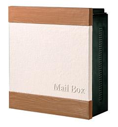 【送料無料】オンリーワン 郵便ポスト クーリエ ウォール ライトブラウン ダイヤル錠 左扉 MY1-1869