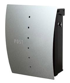 【送料無料】オンリーワン 郵便ポスト ファン セイル Type02 壁掛け(T型カムロック) パーマネントヘアライン NA1-FT02PH