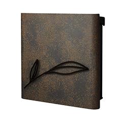 【送料無料】オンリーワン 郵便ポスト ウ゛ァリオネオ ボタニカル  壁掛(鍵無し) ルストブラウン NA1-ONB12RB