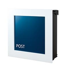 【送料無料】オンリーワン 郵便ポスト ウ゛ァリオネオ キルカス 壁掛け ネイビーブルー 鍵無し NA1-ONK11VB