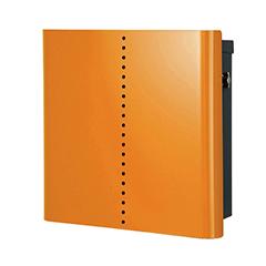 【送料無料】オンリーワン 郵便ポスト ヴァリオネオ ミュート 壁掛(T型カムロック錠) 大型配達物対応 オレンジ NA1-OT18OR