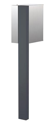 【送料無料】オンリーワン 郵便ポスト ポスタ Type01 チャコールグレー ダイヤル錠 大型配達物対応 NA1-PS01CG