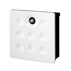【送料無料】オンリーワン 郵便ポスト ウ゛ァリオネオ ディンプル 壁掛(ダイヤル錠) ホワイト NA1-VA08WH