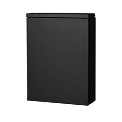 オンリーワン 郵便ポスト アイル 壁掛け ブラック ダイヤル錠 大型配達物対応 NL1-P57BK