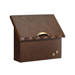 【送料無料】オンリーワン 郵便ポスト ミグノン Ware レザーブラウン 鍵無 NL1-P77BZ