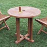 【エリア限定送料無料】ジャービス 丸テーブル0808 20705 チーク 無塗装 ガーデン用 ※お客様組立