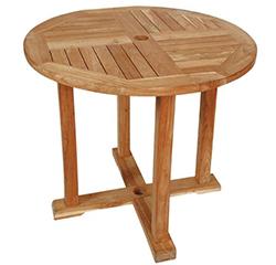 【エリア限定送料無料】ジャービス 丸テーブル1010 20707 チーク無塗装 ガーデン用 ※お客様組立