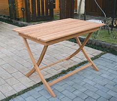 【エリア限定送料無料】ジャービス 折り畳みスクエアテーブルA 20862 チーク 無塗装 ガーデン用