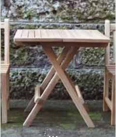 【エリア限定送料無料】ジャービス スコラテーブル 38902 折畳式 チーク 無塗装 ガーデン用
