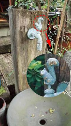 【エリア限定送料無料】ジャービス 枕木立水栓 蛇口:リス(青銅色) 99019 ※お客様組立
