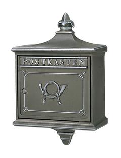【アウトレット】郵便ポスト 大佐 外掛用ポスト 1892 ルガーノ グレー【送料別途】