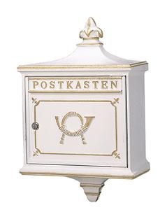 【アウトレット】郵便ポスト 大佐 外掛用ポスト 1892 ルガーノ ホワイト【送料別途】