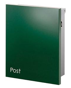 【送料無料】オンリーワン 郵便ポスト ジョイ 壁付け T型カムロック錠 ダークグリーン KS1-B119D