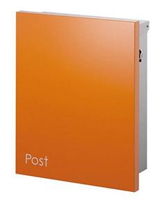 【送料無料】オンリーワン 郵便ポスト ジョイ 壁付け T型カムロック錠 オレンジ KS1-B119O