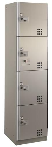 【関東限定 設置費コミコミプラン】ダイケン宅配ボックス ダイヤル錠(可変式)タイプ D3型 スチール扉(ステンカラー) Nユニット(捺印装置付) TBX-D3N