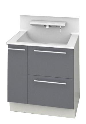 TOTO 洗面化粧台 オクターブ ハイクラス 3Wayキャビネット 間口750mm カウンター高さ800mm LDSFA075BDGCN1 全7色 送料無料
