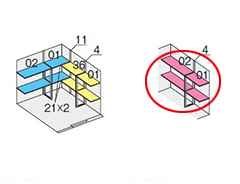 イナバ物置 ネクスタウィズオプション 別売棚板 Cセット NXN-48H・48HK/NXN-48HK・48H用 ※物置本体と同時購入の場合のみ送料無料