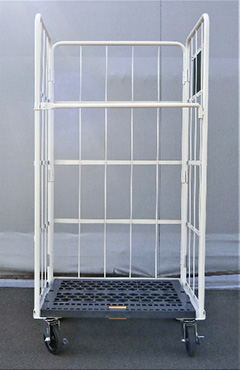 スターワン かご車 キャスター仕様 床面:樹脂製 アイボリー MEC-P1 送料無料
